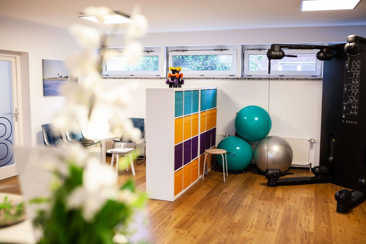 Praxis Niels Hupe Physiotherapie Wartebereich Training